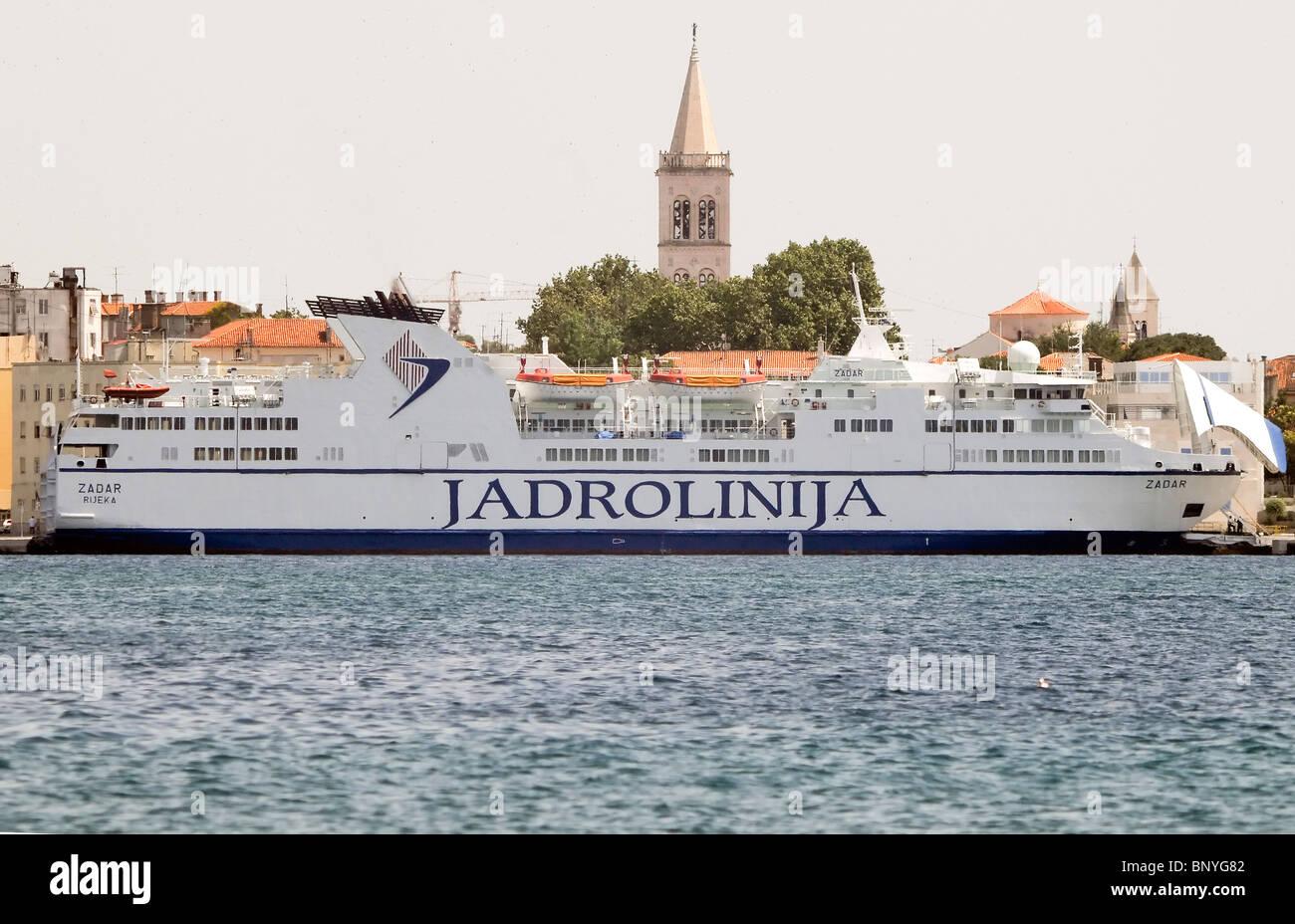 Jadrolinija Ferry at Zadar, Croatia - Stock Image