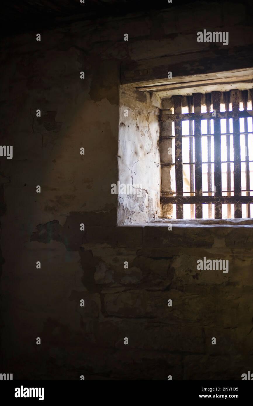 Jail cell at Richmond Gaol.  Richmond, Tasmania, AUSTRALIA - Stock Image