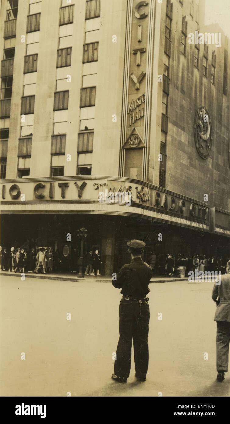 1940 photo of Radio City Music Hall in New York City, NY, USA. - Stock Image