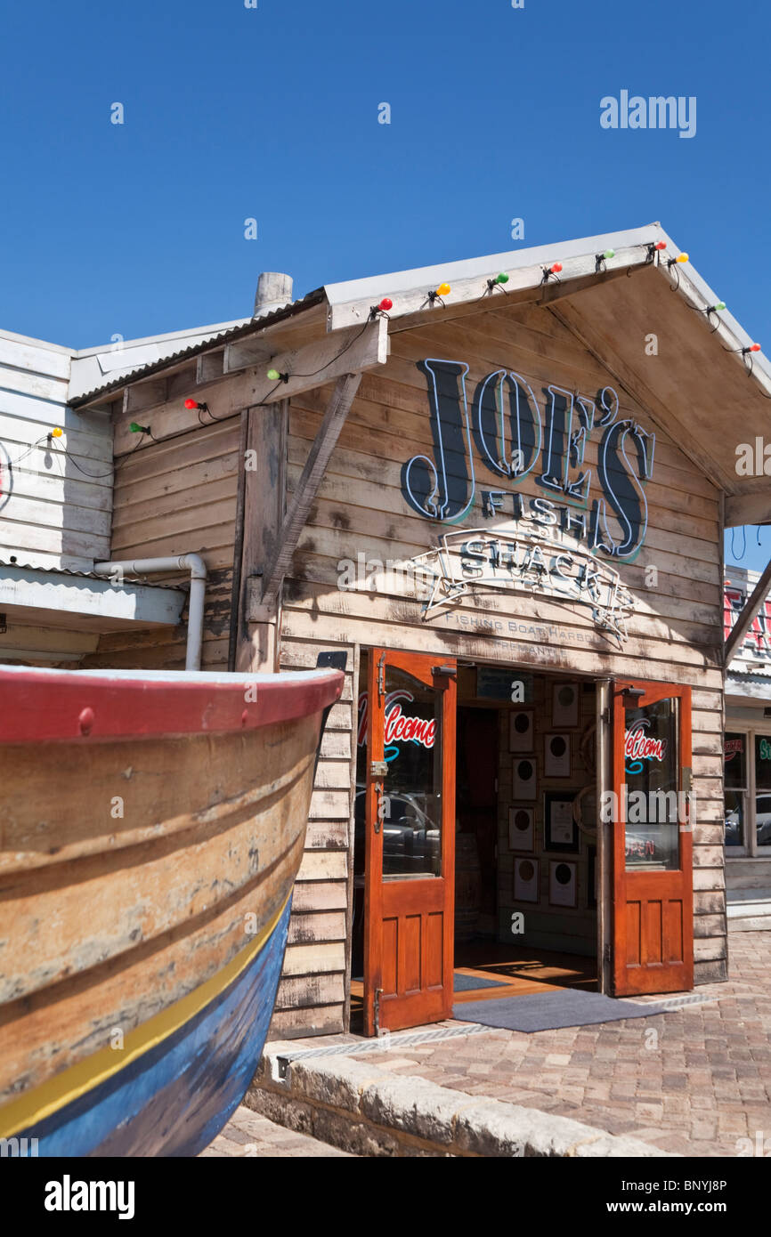 Joe's Shack seafood restaurant at Fishing Boat Harbour. Fremantle, Western Australia, AUSTRALIA. - Stock Image