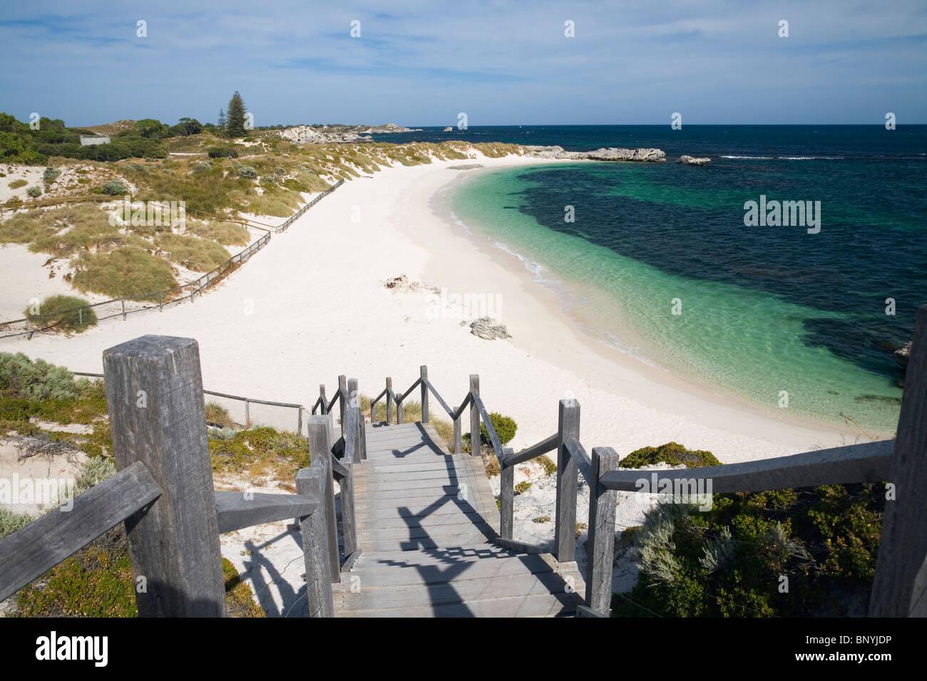 Pinky Beach on Rottnest Island, Western Australia, AUSTRALIA. - Stock Image