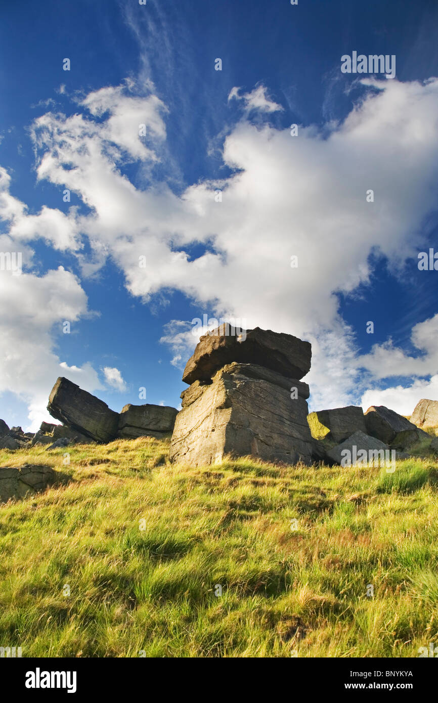 The Buckstones on The Marsden Moor Estate at March Haigh near Huddersfield West Yorkshire UK - Stock Image