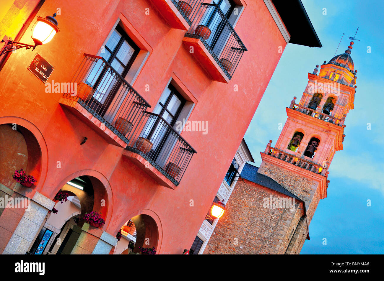 Spain, St. James Way: Historic centre of Ponferrada - Stock Image