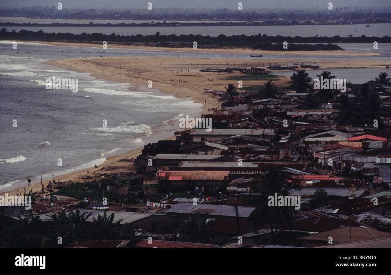 Monrovia beaches in Liberia circa 1994 - Stock Image