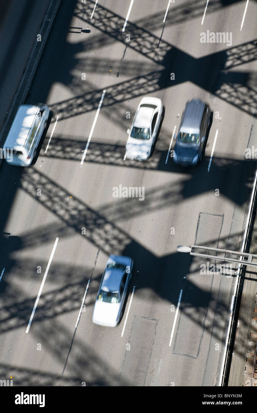 Traffic crossing the Sydney Harbour Bridge. Sydney, New South Wales, AUSTRALIA - Stock Image
