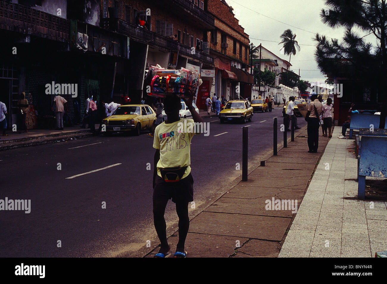 down town Monrovia in Liberia West Africa circa 1994 - Stock Image