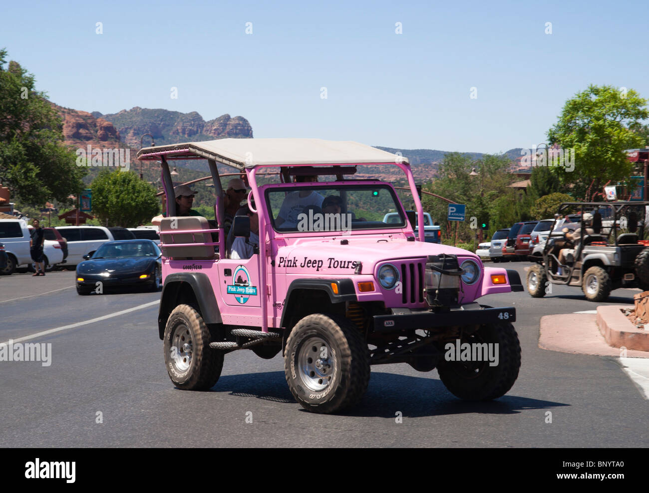 Pink Jeep Stock Photos Pink Jeep Stock Images Alamy