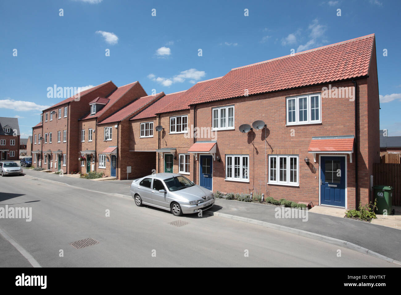 New affordable town housing in Grimsby - Stock Image