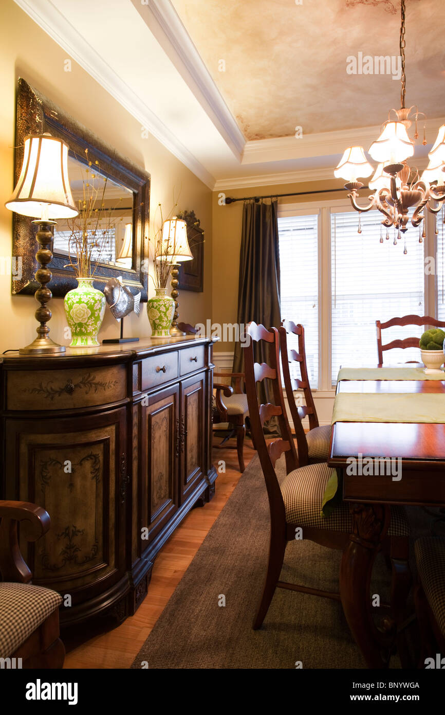 Formal Dining Room For Guests In American Contemporary Home