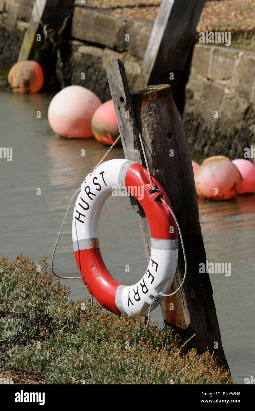 Lifebelt seaside safety equipment - Stock Image