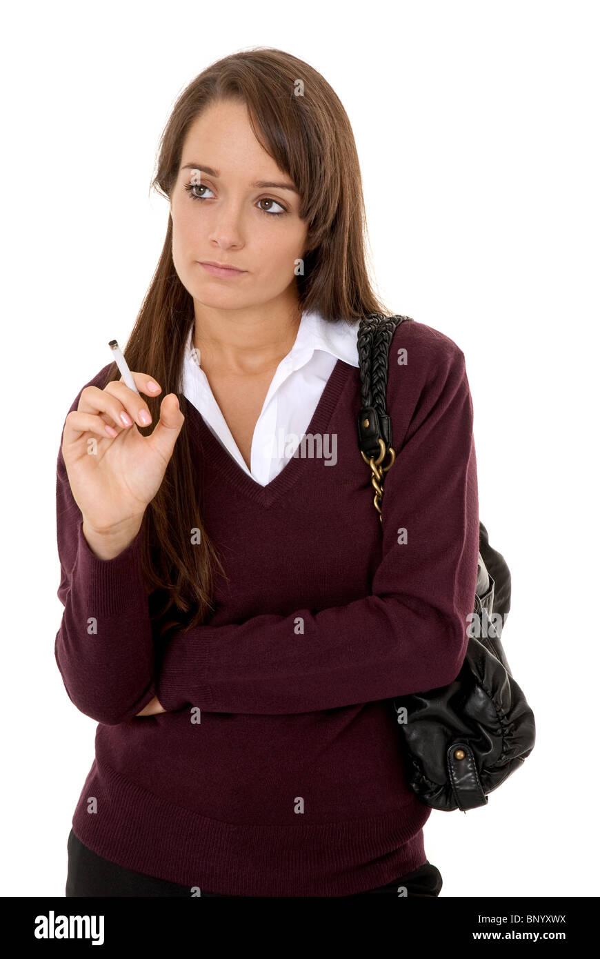 teenage girl smoking cigarette stock photos amp teenage girl