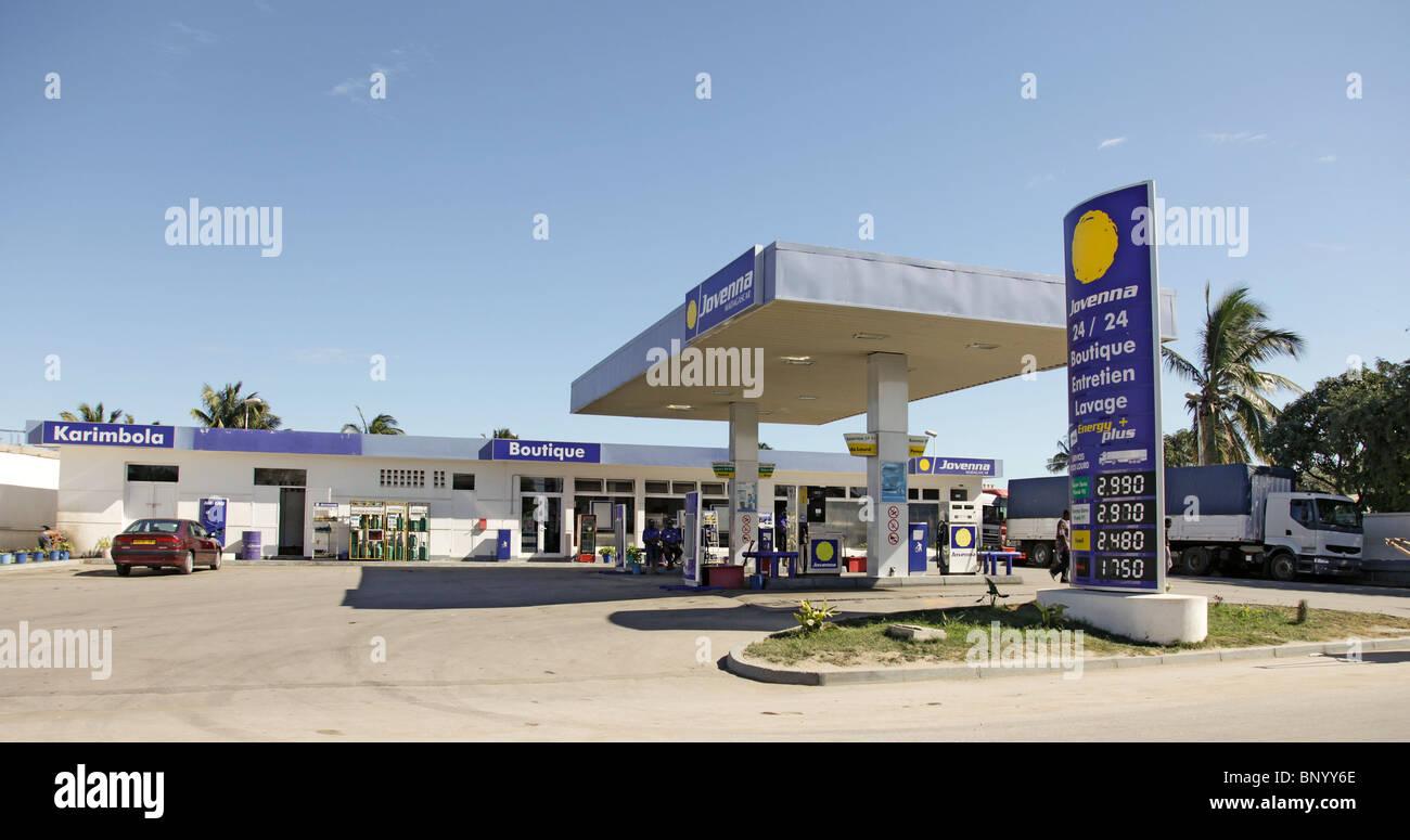 Jovenna petrol station, Toliara aka Toliary fka Tulear, south-west Madagascar - Stock Image