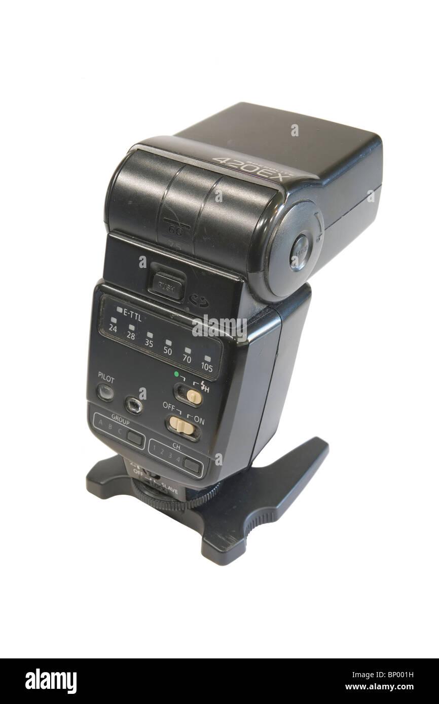 Canon 420EX flash gun - Stock Image