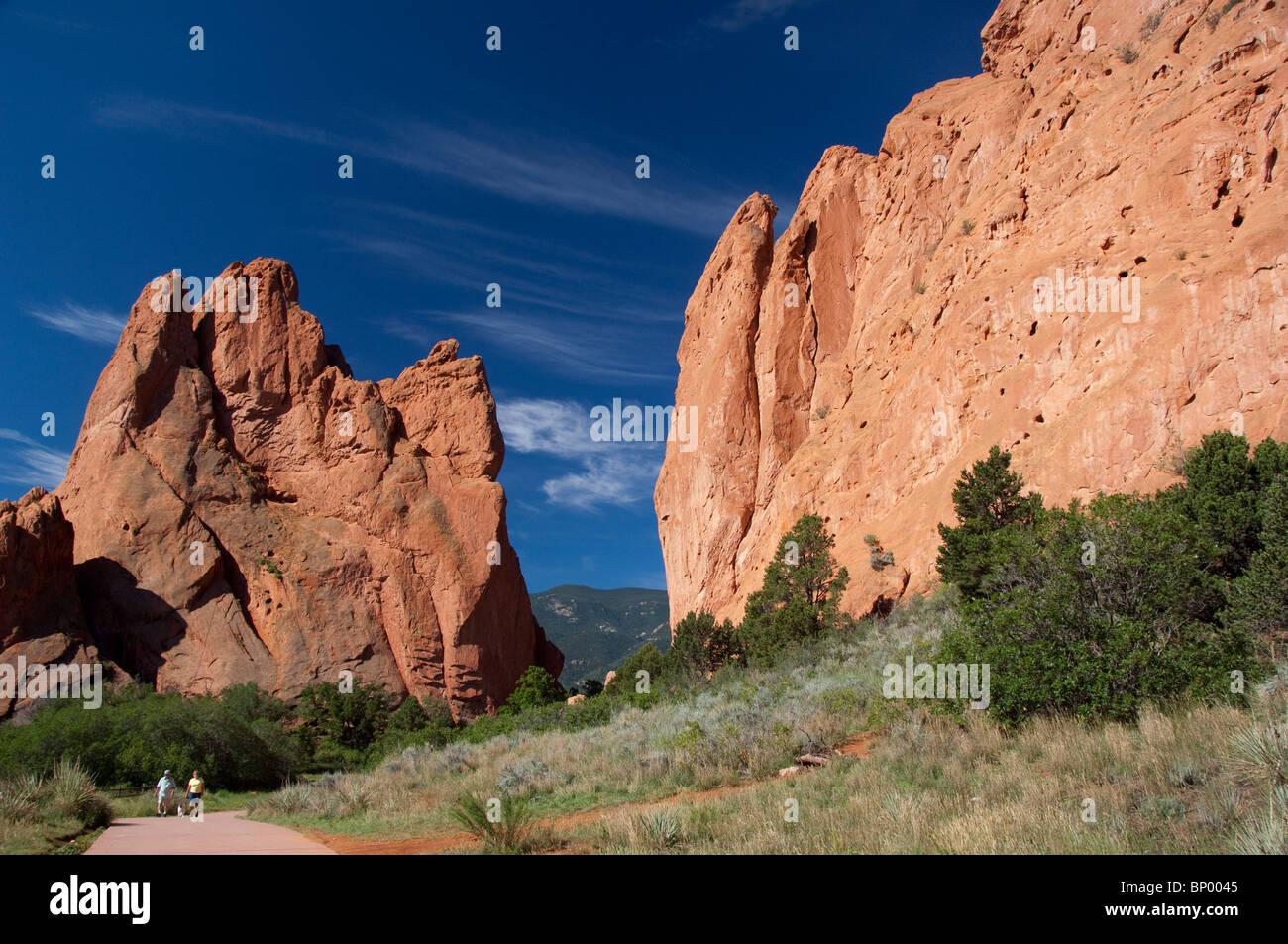 USA, Colorado, Colorado Springs, Garden of the Gods Natural Monument & park. - Stock Image
