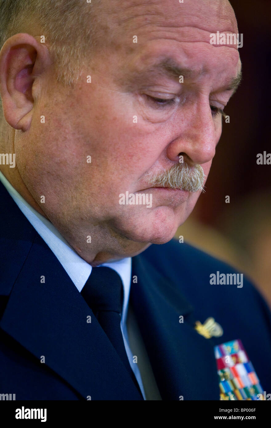 U.S Coast Guard Commandant Admiral Thad Allen. - Stock Image