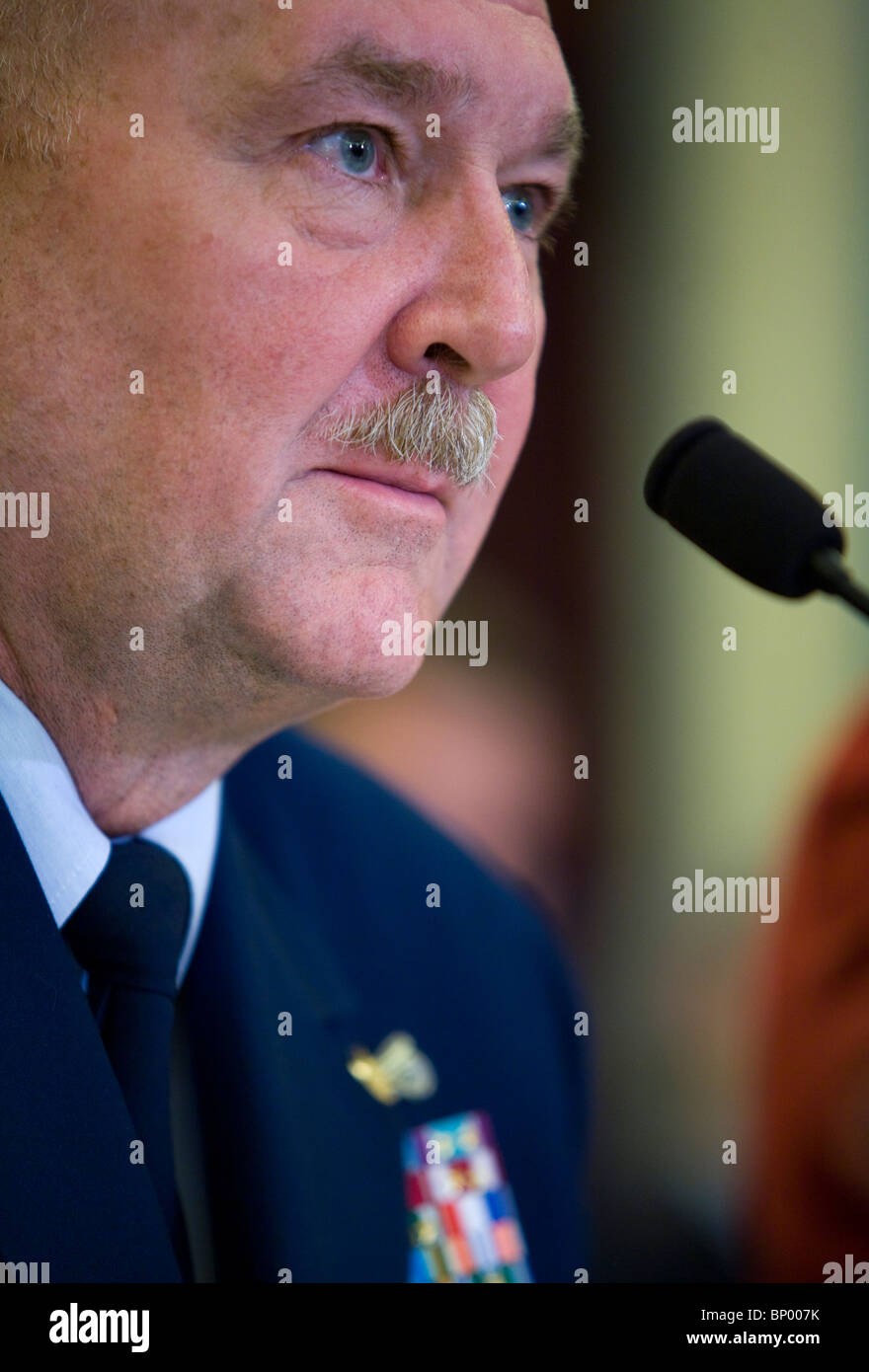U.S .Coast Guard Commandant Admiral Thad Allen. - Stock Image