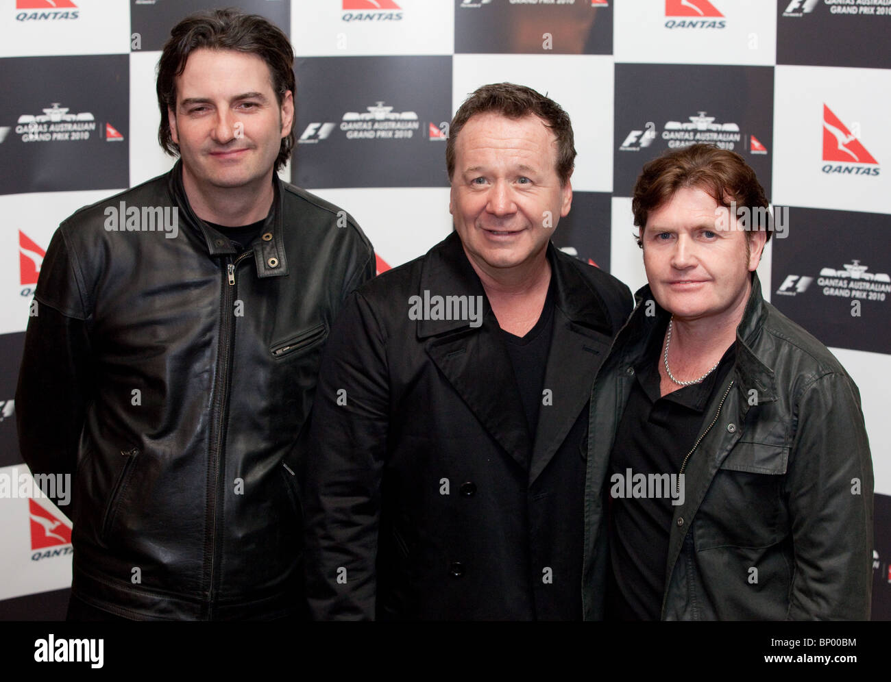Simple Minds in Melbourne, March 2010. - Stock Image