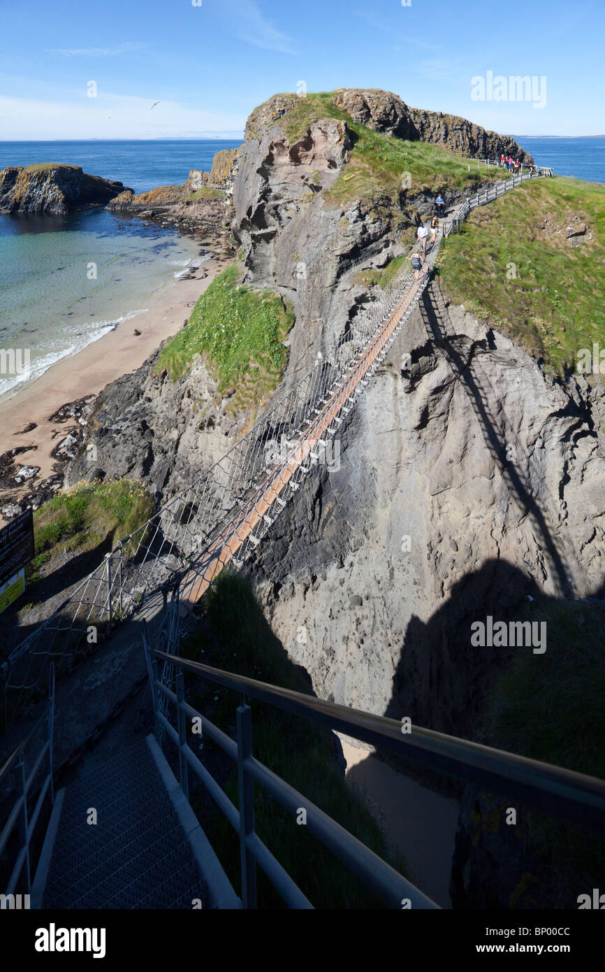 Carrick-a-Rede Rope Bridge, County Antrim, Northern Ireland, UK - Stock Image