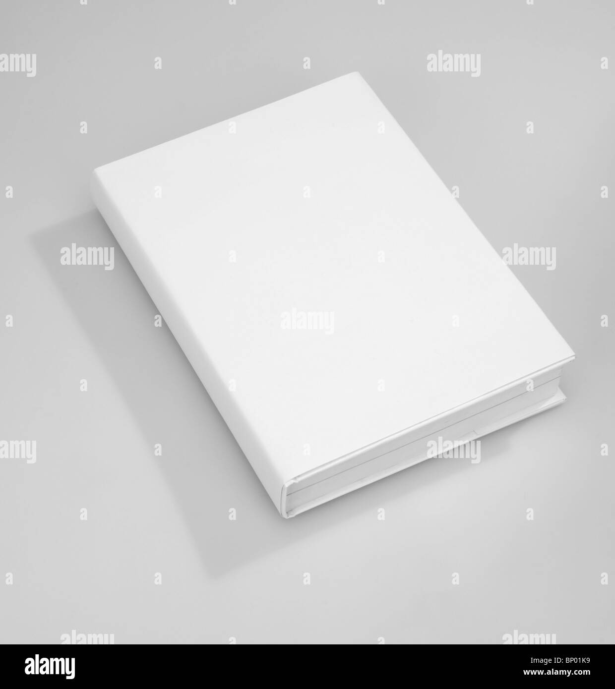 Blank book cover white - Stock Image