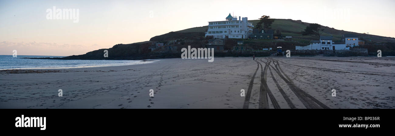 Panorama of Burgh Island Hotel, Burgh Island, South Hams, Devon, UK - Stock Image