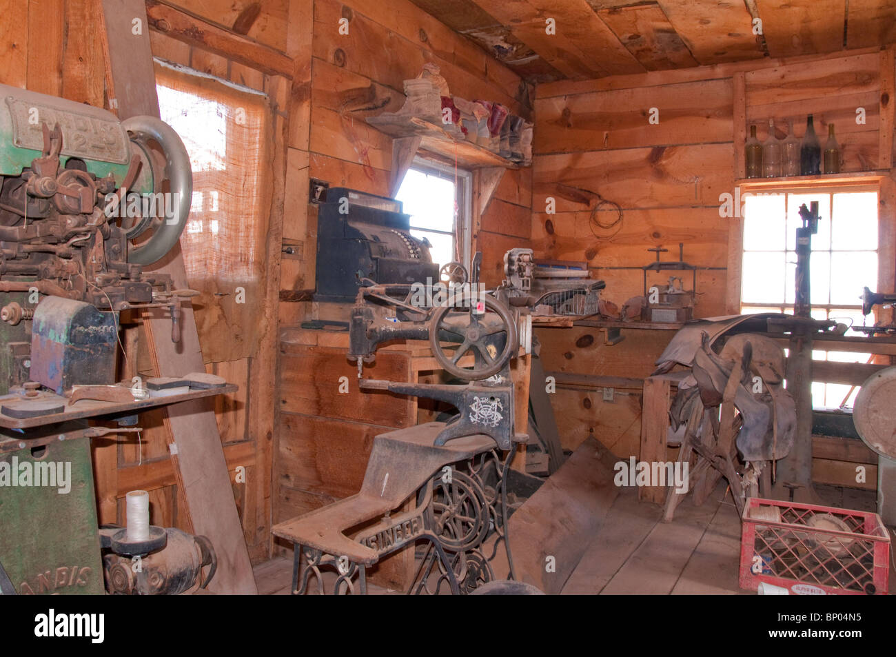 Old Workshop for Cooper Mining Jerome Arizona Stock Photo