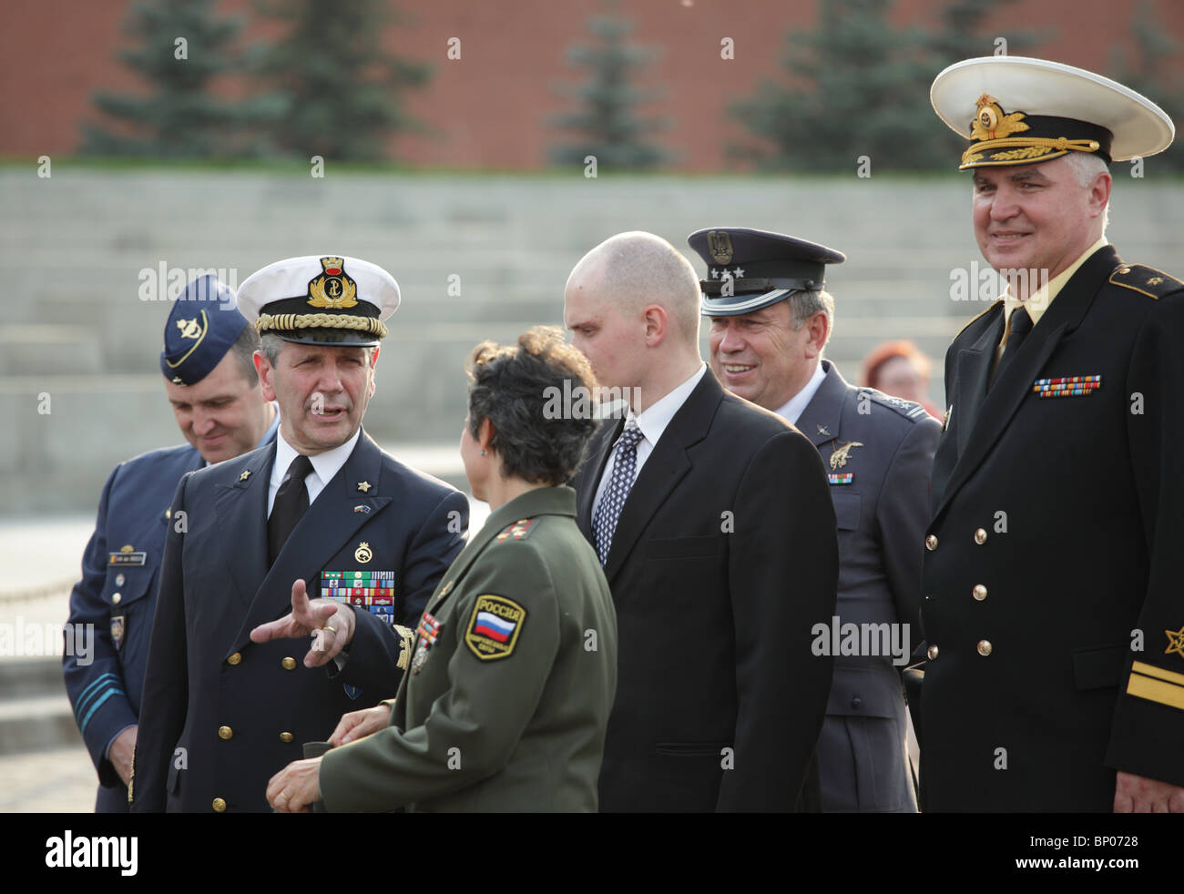 NATO delegation on Red Square, Moscow, Russia - Stock Image