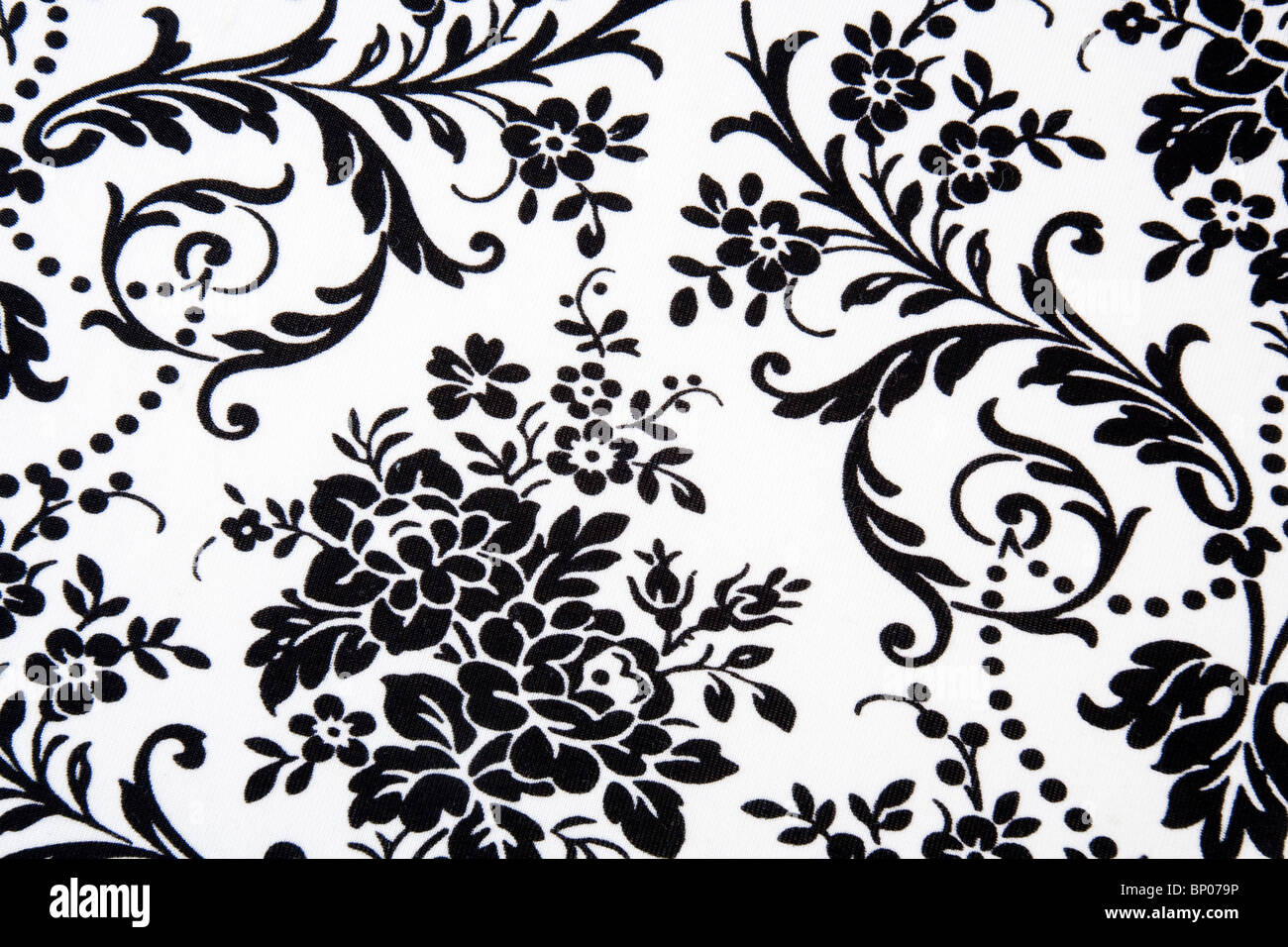 Black White Seamless Floral Pattern Stock Photo 30738562 Alamy