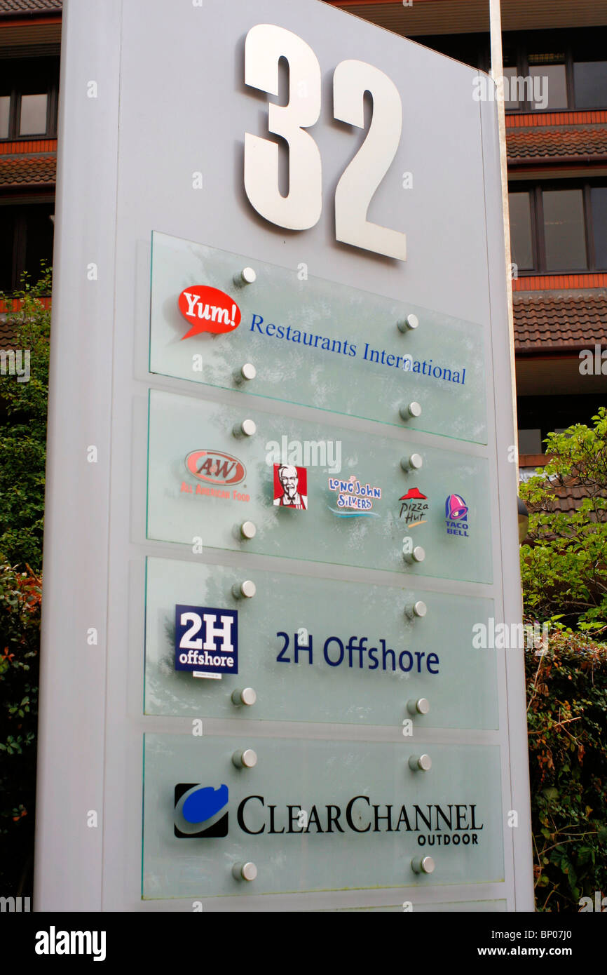 Office Building Notice Board Sign Yum 2h Offshore
