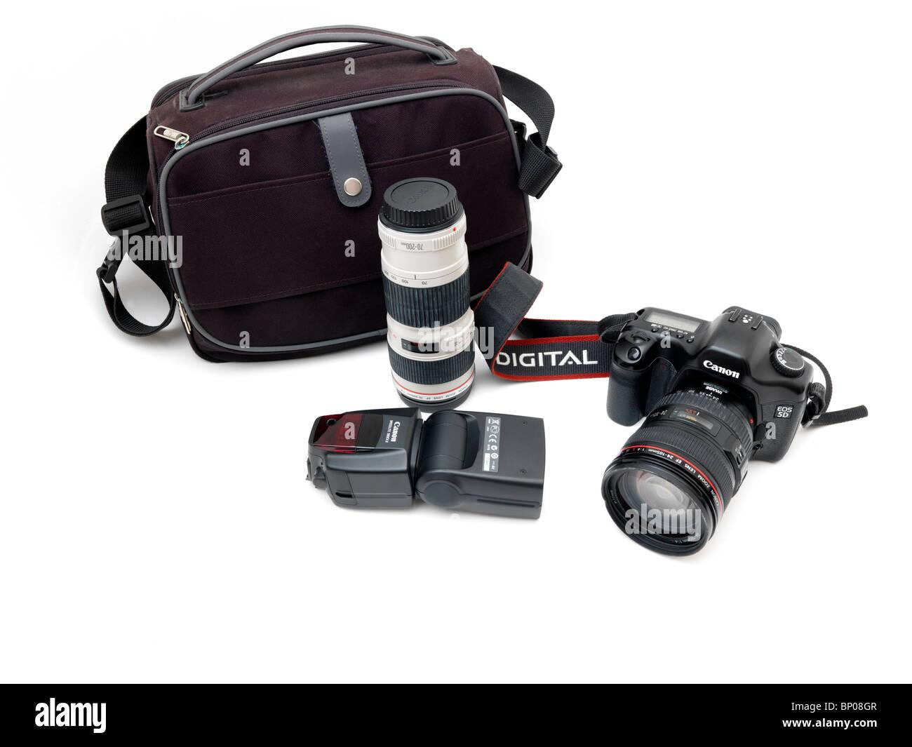 Canon Digital SLR kit - Stock Image