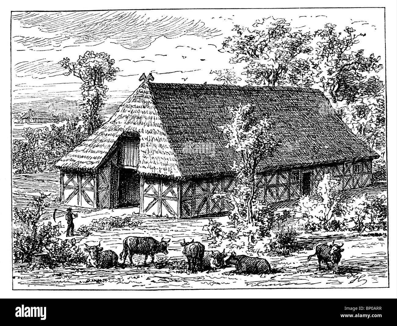 Saxon farmhouse - Stock Image