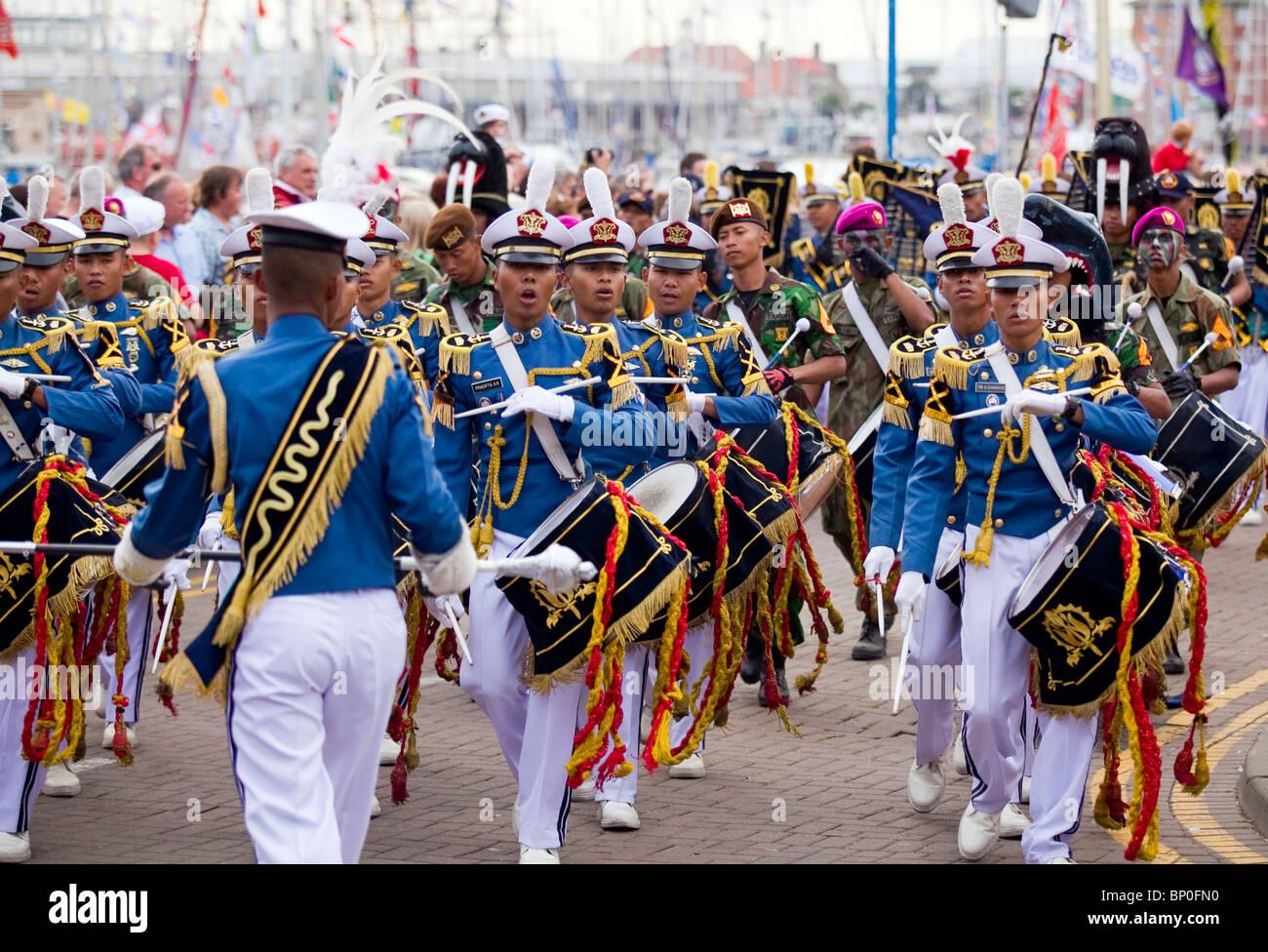 Tall Ships 2010 Indonesian parade - Stock Image