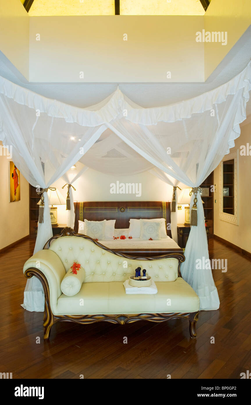 Kenya Coast Diani Beach Interior Of One Of The Bedrooms In The