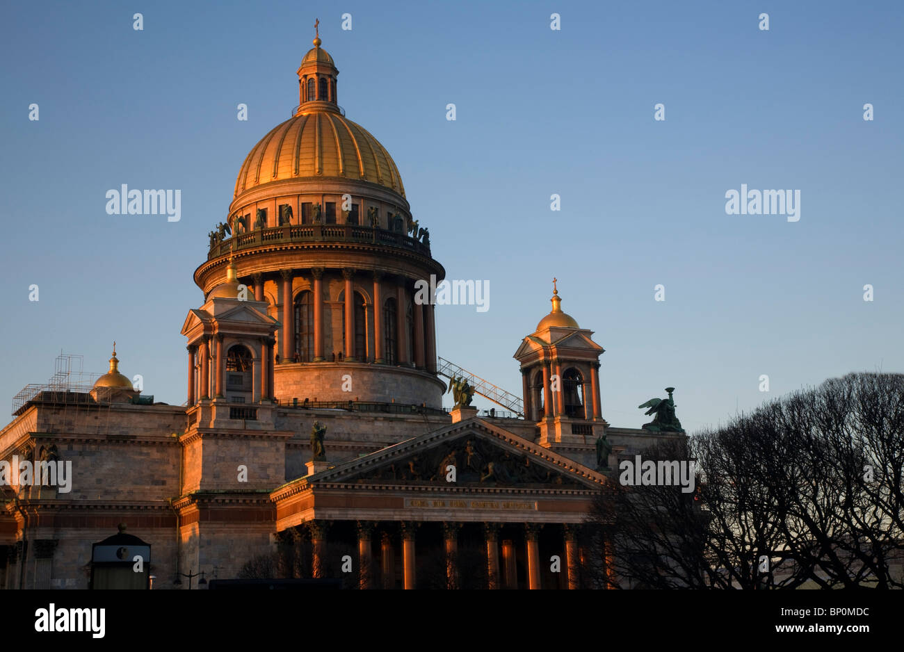 Russia, St.Petersburg; The majestic St.Isaac's Cathedral in the evening light - Stock Image