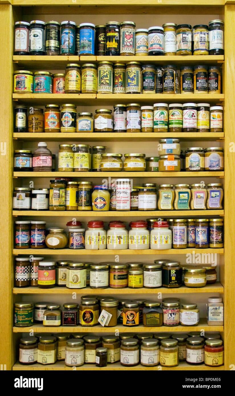 Mustard Museum in Mount Horeb Wisconsin - Stock Image