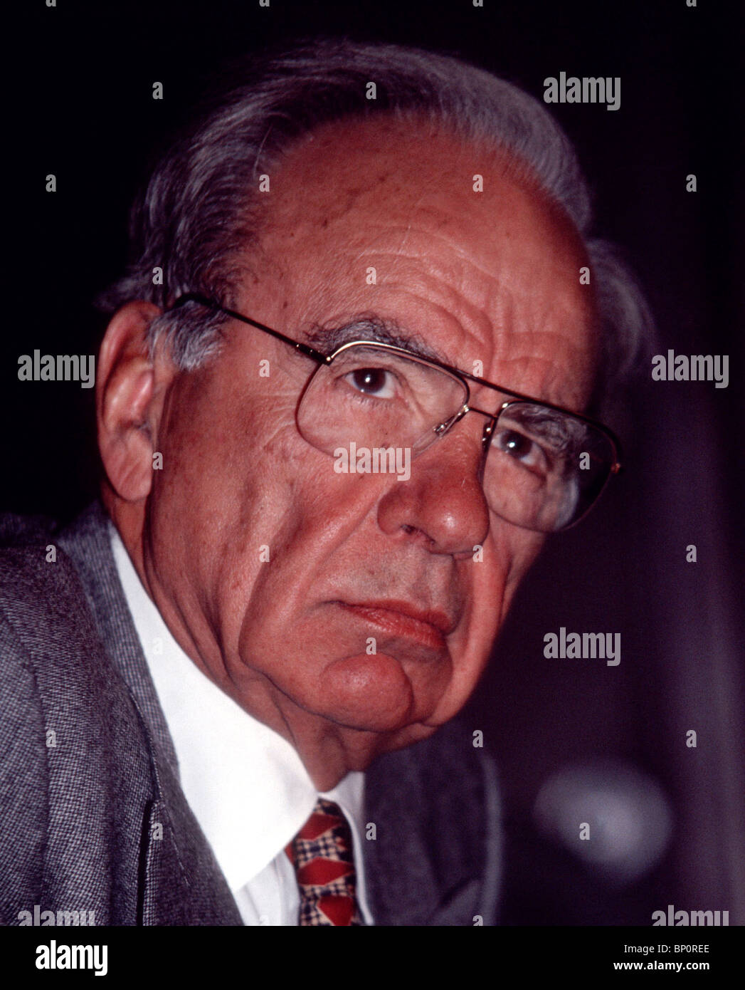 News Corporation's Rupert Murdoch seen here in a 1990 file photo. (© Frances M. Roberts) - Stock Image