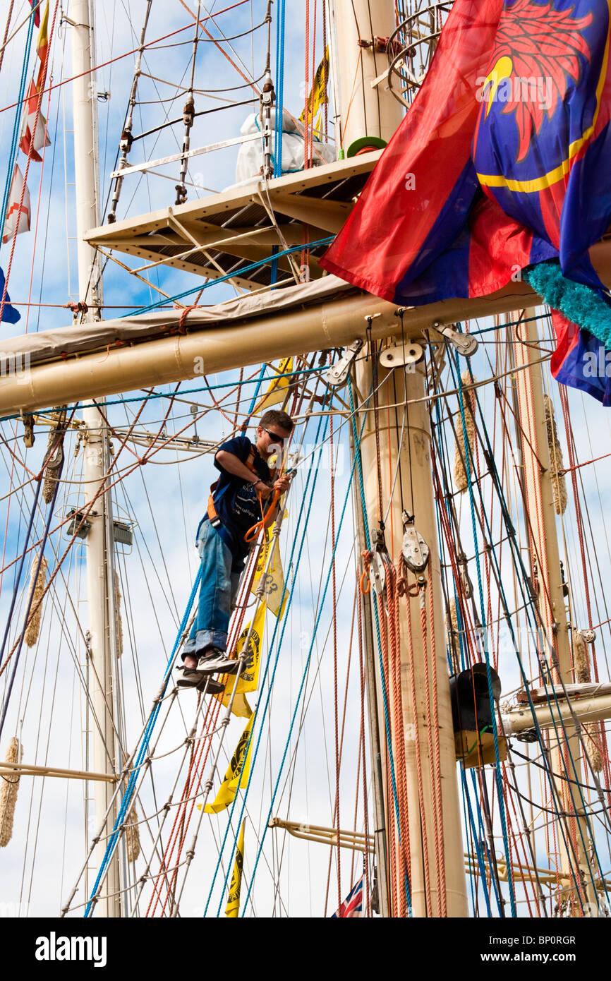 Tall Ships Race 2010, Hartlepool, Cleveland, North East England, UK - Stock Image