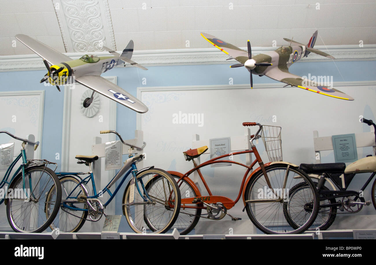 Deke Slayton Memorial Space and Bike Museum in Sparta Wisconsin - Stock Image