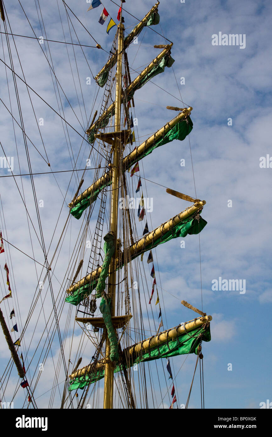 Class A Alexander von Humboldt at Hartlepool 2010 Tall Ships Race, Village and Marina, Teesside, North Yorkshire, - Stock Image