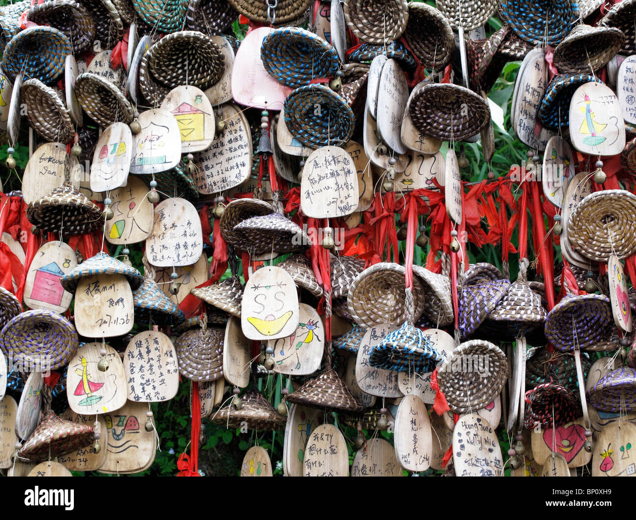 China, Yunnan province, Lijiang, wish bells - Stock Image