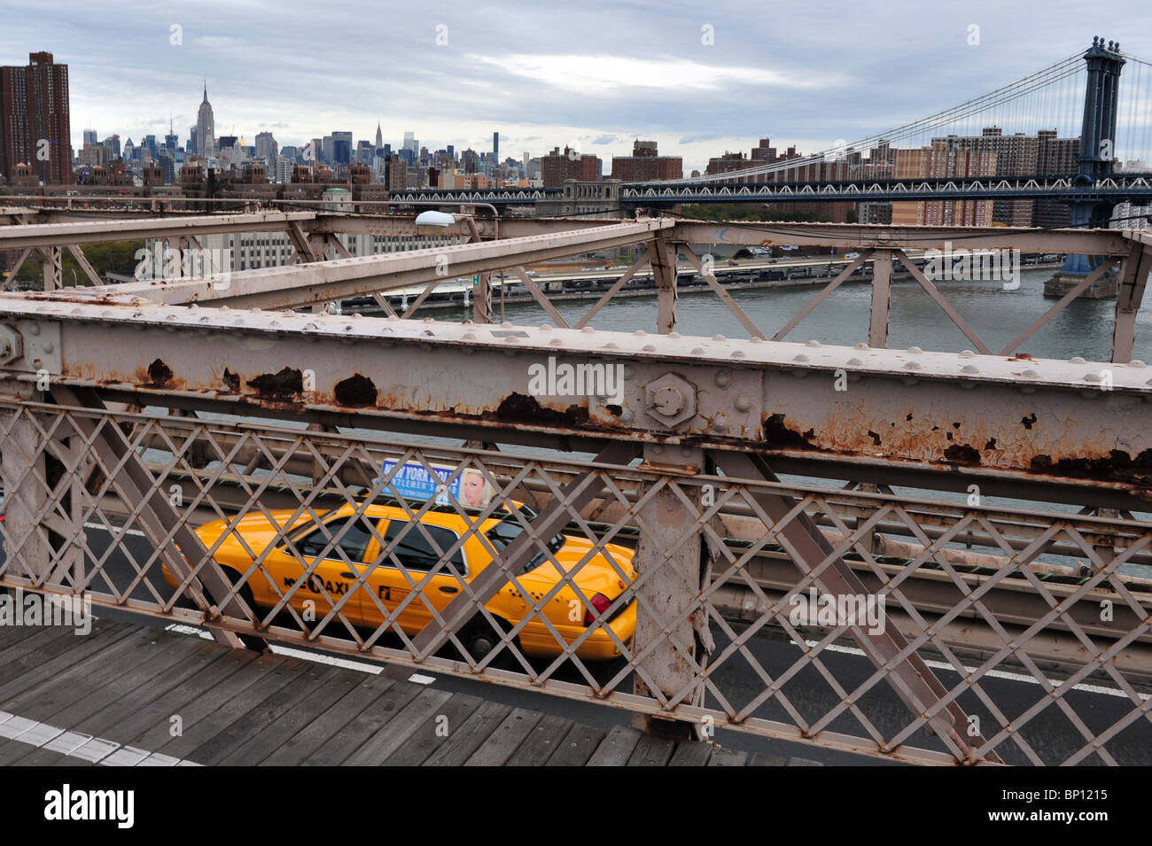 Yellow Cab Taxi-New York City Taxicabs - Stock Image