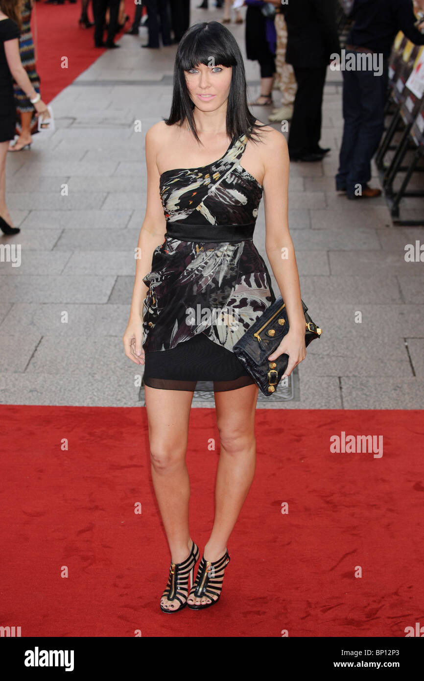 Linzi Stoppard at the UK Premiere of 'The Expendables', Leicester Square, London. - Stock Image