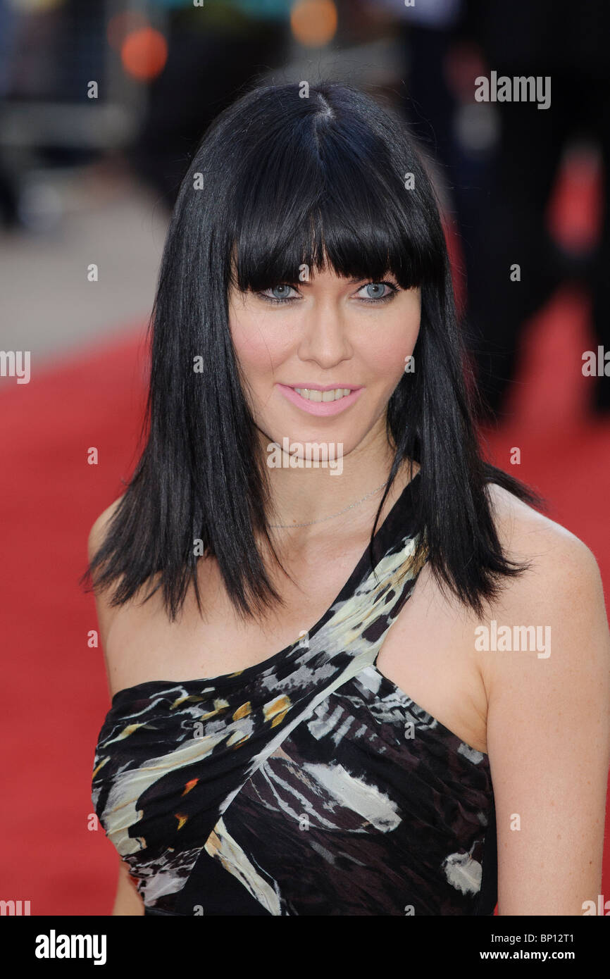 "Linzi Stoppard at the UK Premiere of ""The Expendables"", Leicester Square, London. Stock Photo"