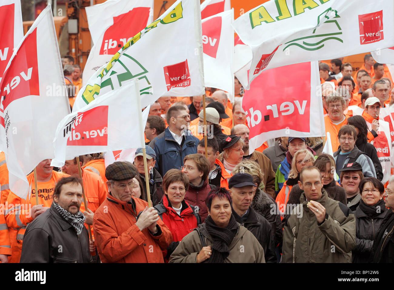 Verdi token strike, Berlin, Germany - Stock Image