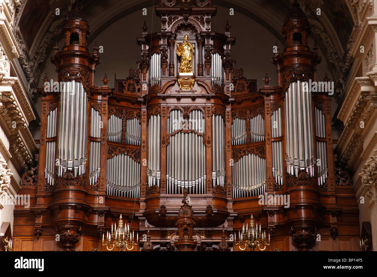 Germany, Berlin, Dom, Cathedral, interior, organ - Stock Image