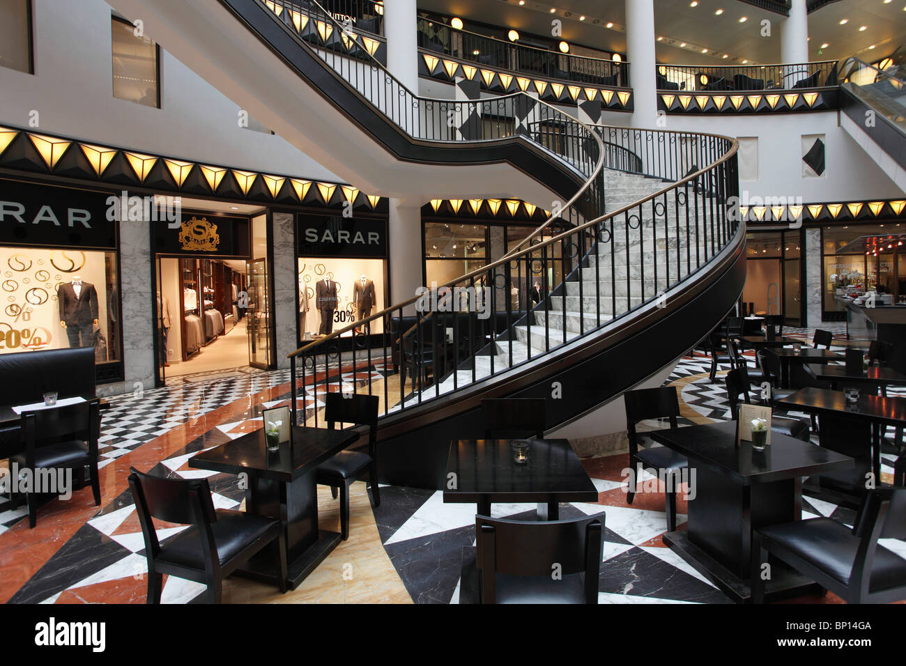 Germany, Berlin, Quartier 206 shopping complex - Stock Image