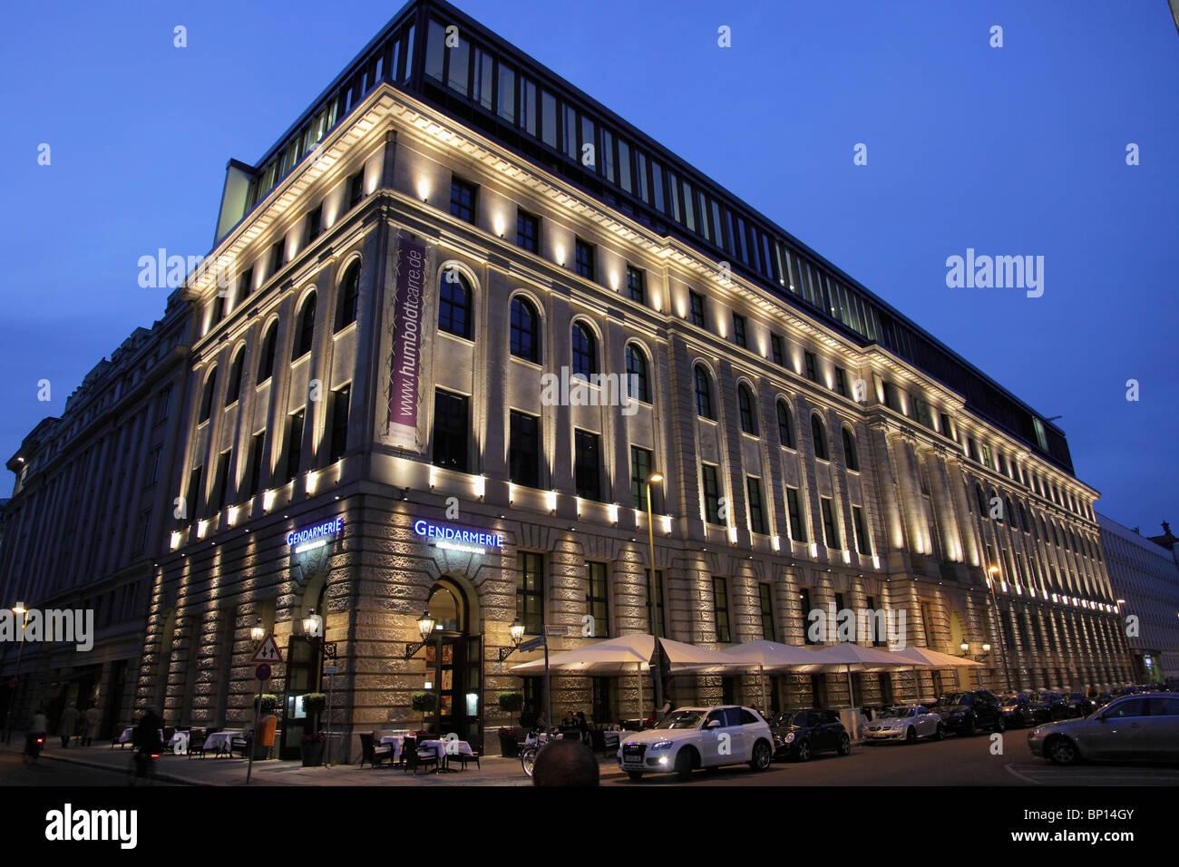 Germany, Berlin, Mitte, Gendarmerie Restaurant - Stock Image