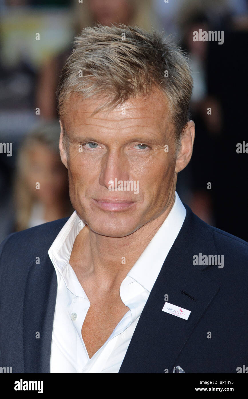 Dolph Lundgren at the UK Premiere of 'The Expendables', Leicester Square, London. - Stock Image