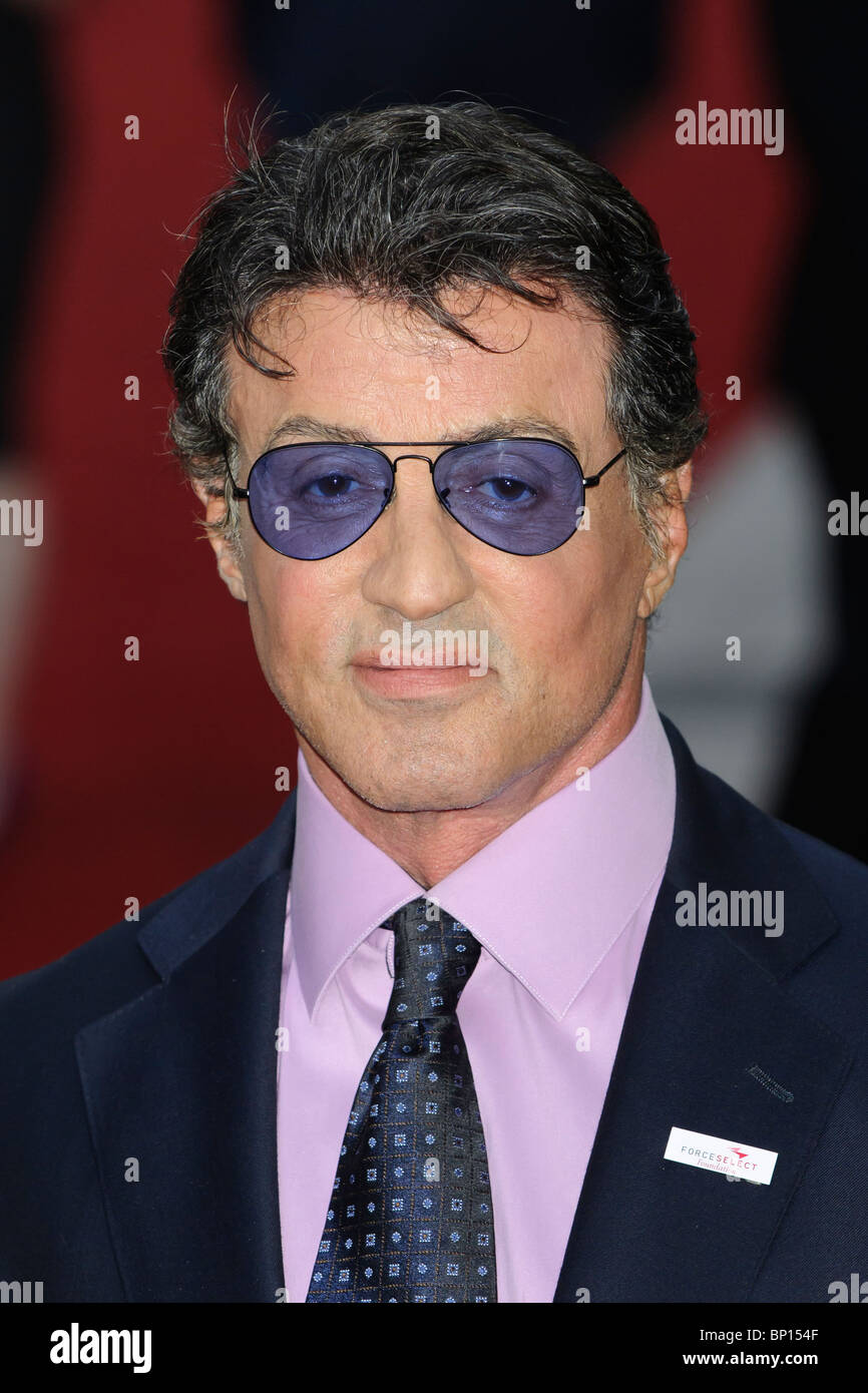 Sylvester Stallone at the UK Premiere of 'The Expendables', Leicester Square, London. - Stock Image