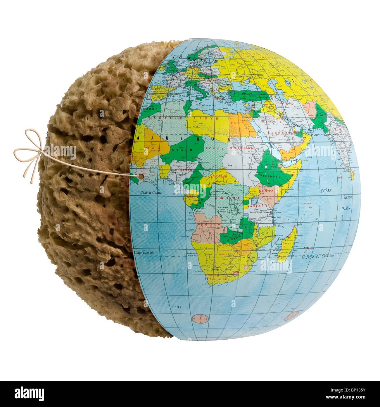 Sponge globe - Stock Image