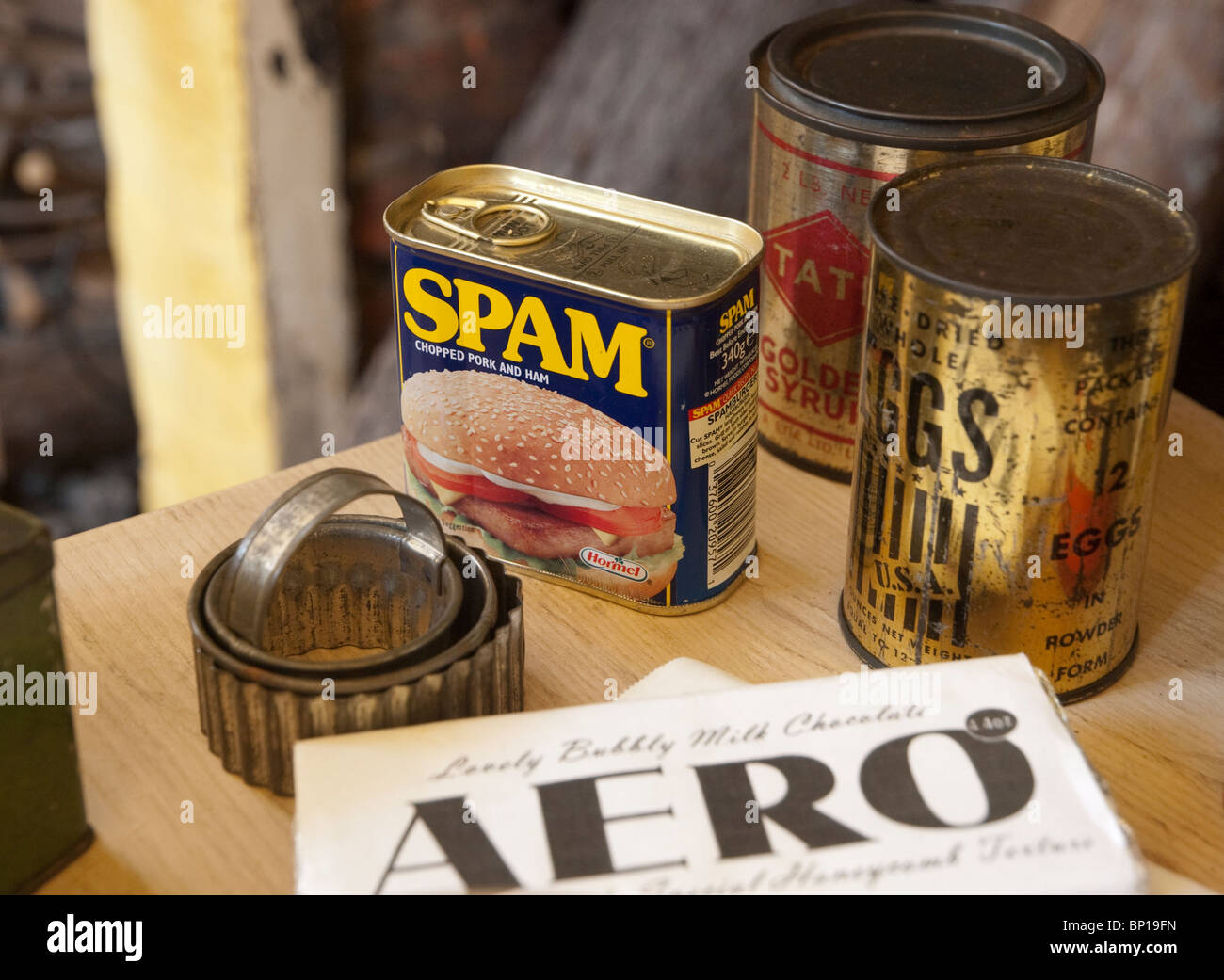 Wartime foods. - Stock Image
